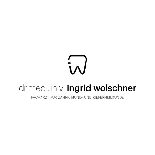 Clean logo for a dentist