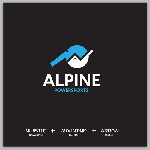 Clever logo proposal for Alpine Powersports