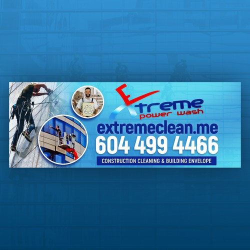 Design a Bus Ad for Extreme Power Wash