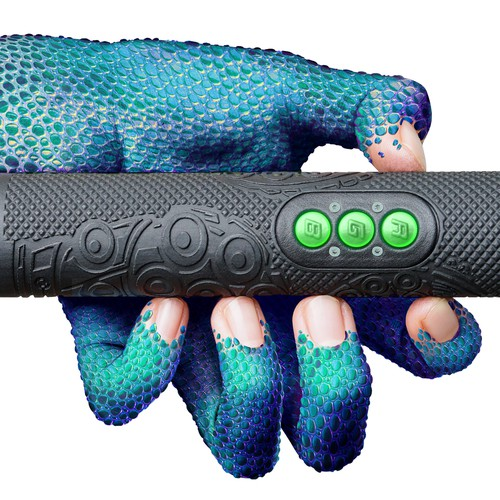 "Illustrated ""monster hand"" on a product image"