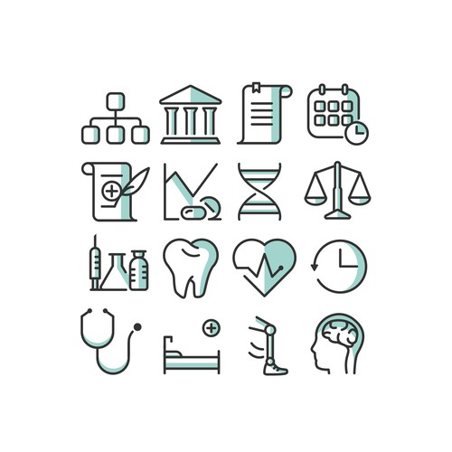 Website Icons for Medical Faculty