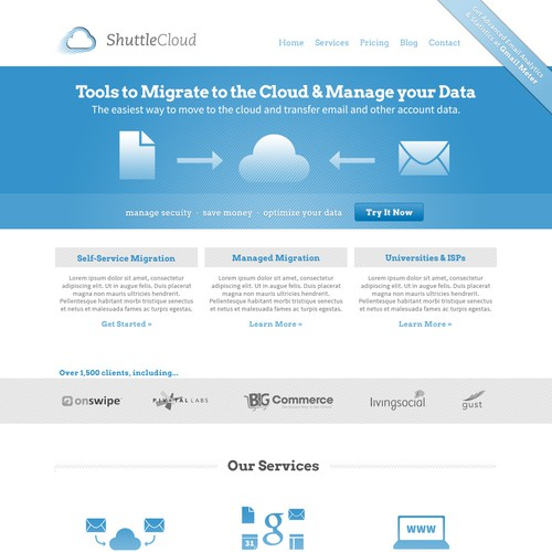 Cloud & Data Services Website