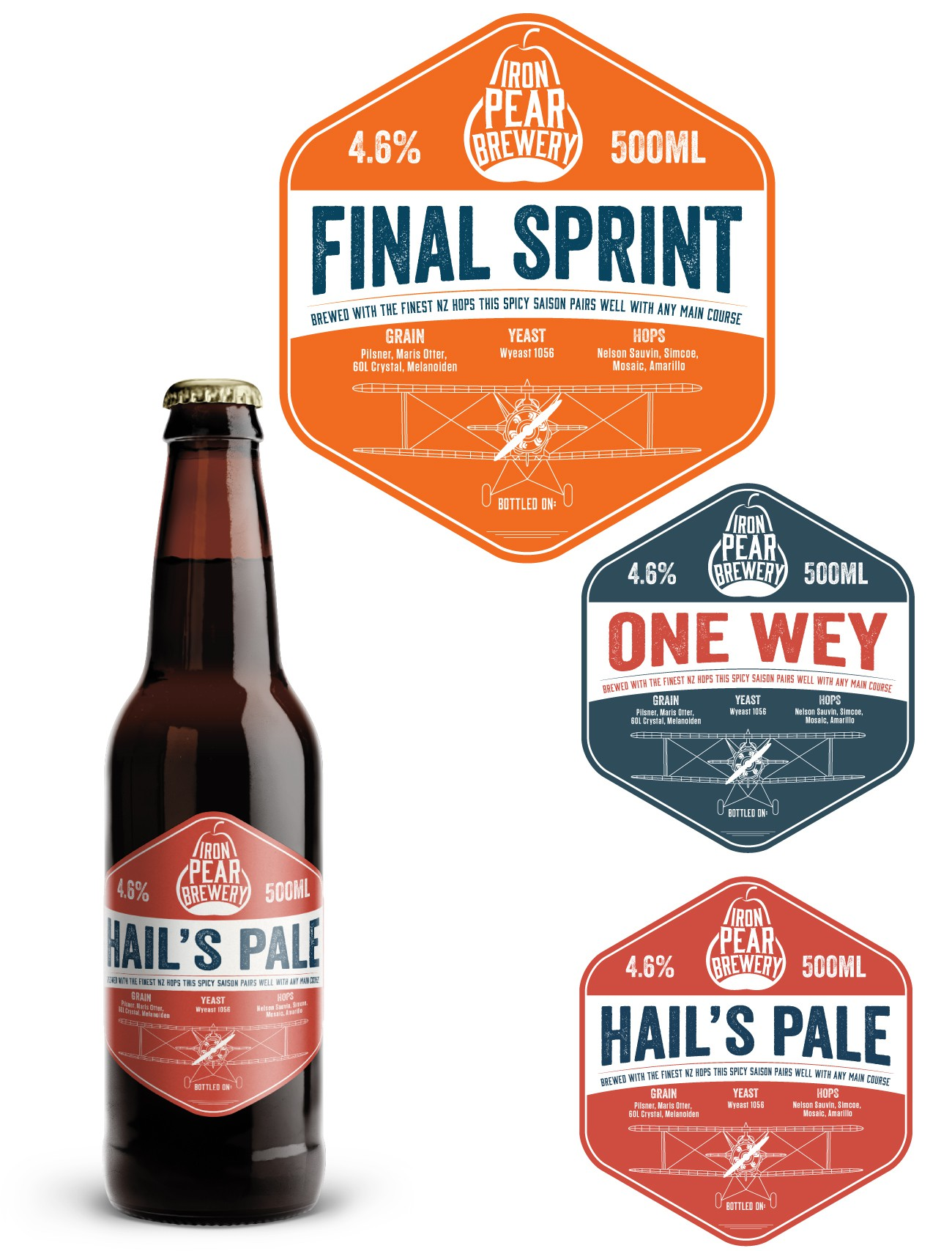 [GUARANTEED] Iron Pear Brewery - bold, precise labels for a UK nanobrewery