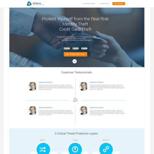 Create a Techie Website for a Company that Secures Credit Cards