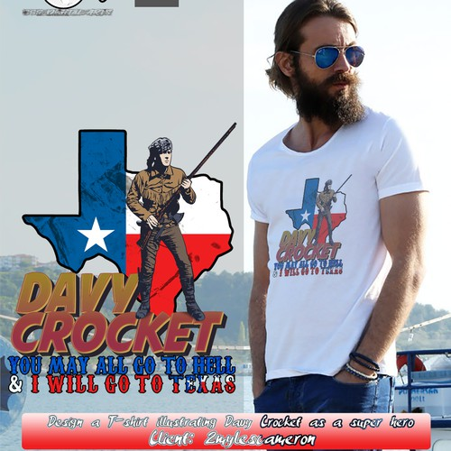 Davy Crocket T-Shirt Design