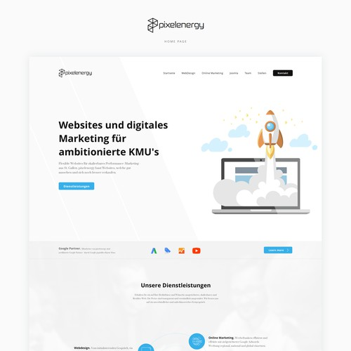 Digital agency website in Switzerland
