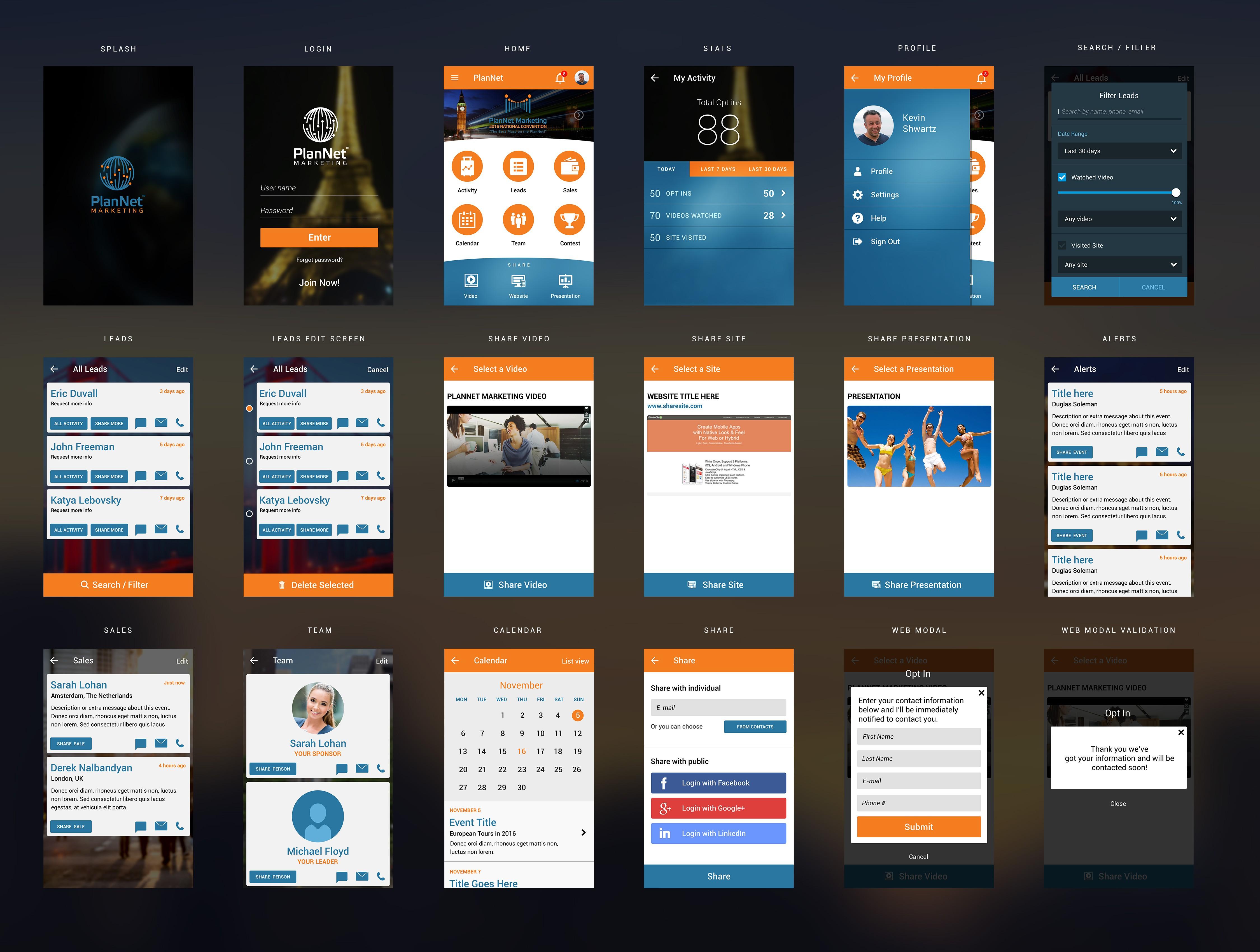 PlanNet Marketing Mobile App