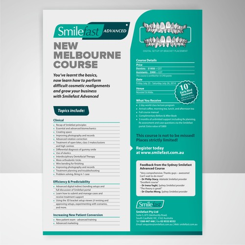 Smart and modern A4 flyer needed high-end Australian company.