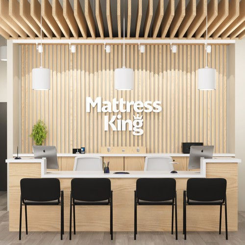 Interior design for Mattress King, Oklahoma.