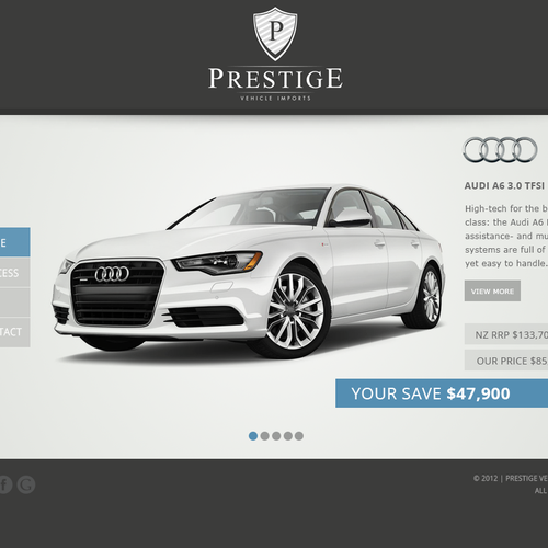 New website design wanted for Prestige Vehicle Imports