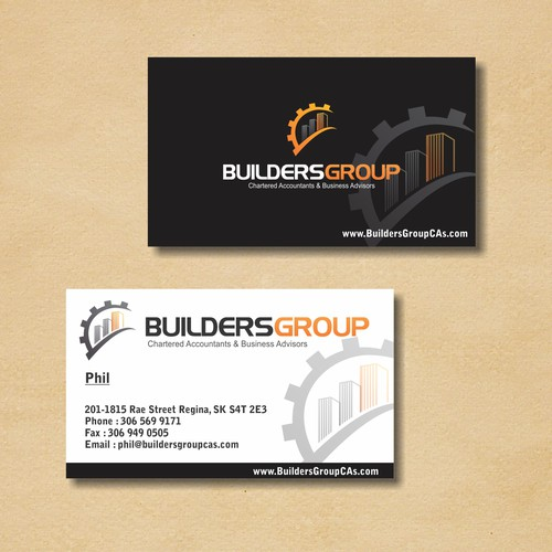 business card for BuildersGroup