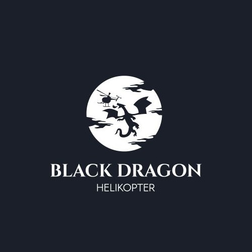 Logo design for black dragon