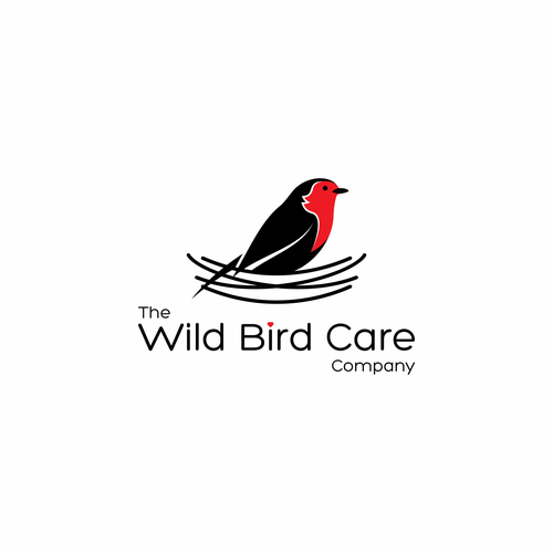 Simple logo concept for Wild Bird Care Co.