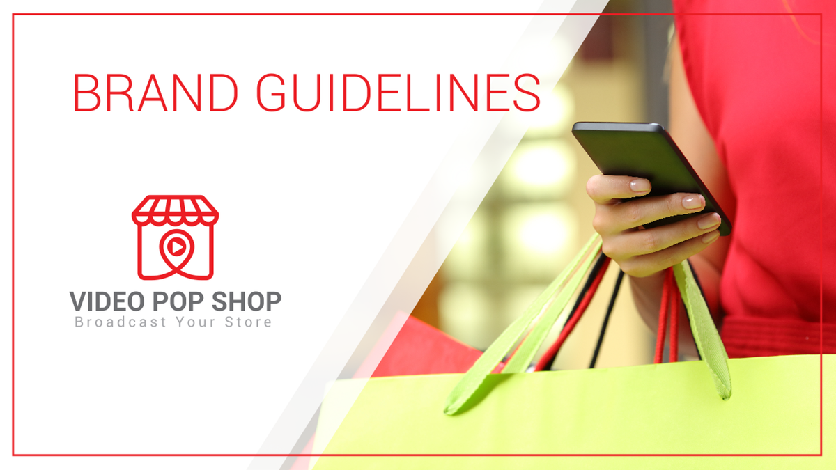 Brand guide and Stationary For Video Pop Shop