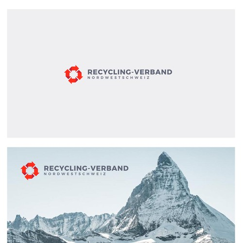 Recycle and cross Swiss logo