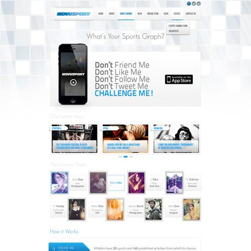 Homepage redesign for Novusport.com