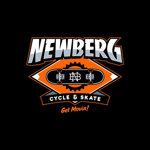 logo concept for NEWBERG CYCLE & SKATE