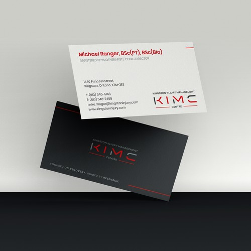 Business Card for Injury Management
