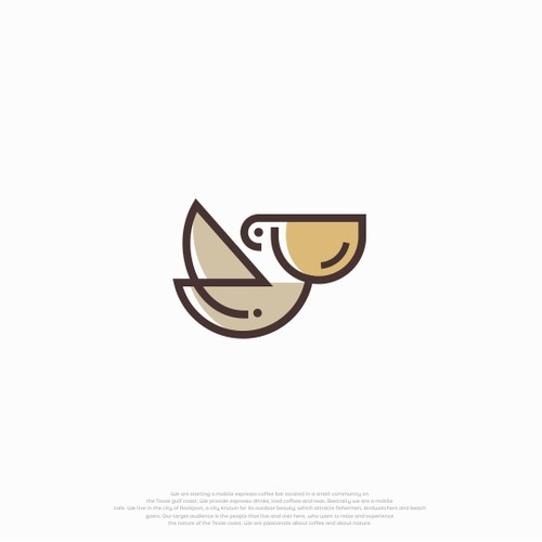 pelican logos combined with coffee cups.