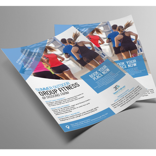 Outdoor fitness flyer