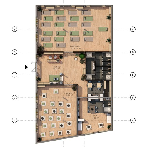 Floor Plan of Yoga Space