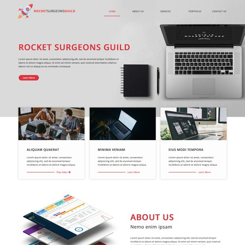 Web Design Concept for RSG