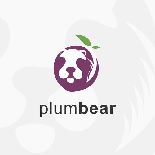 Negative Space logo Plum Bear