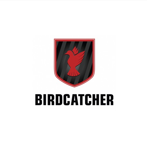 "Logo for a high-tech device named ""BirdCatcher"" intended  for law enforcement"