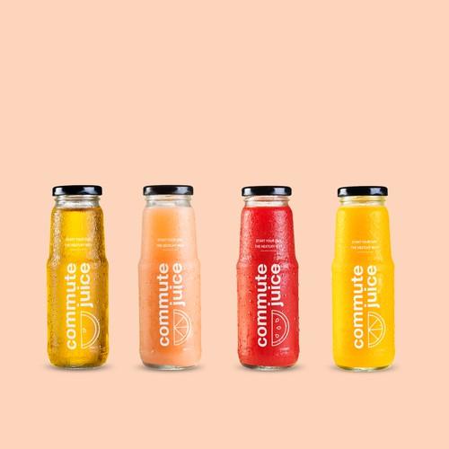 Modern Layout for Juice Bottle
