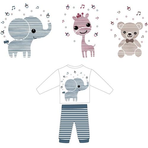 Cute Baby Print Apparel Design