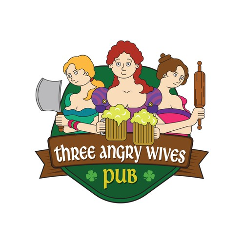 Logo for Three Angry Wives