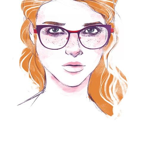 Illustration for eyewear