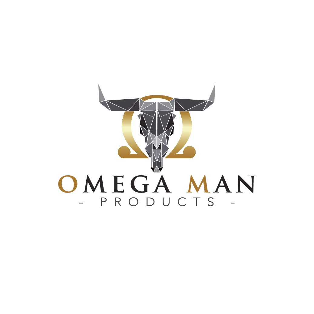 Male Adult Toy Manufacturer - Omega Man Products, needs masculine logo design.