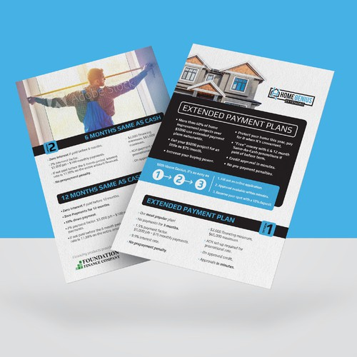 Customer Flyer for Financing - A5