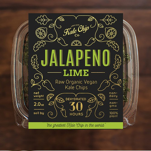 Packaging design for the Chicago Kale Chip Co. (Runner Up)