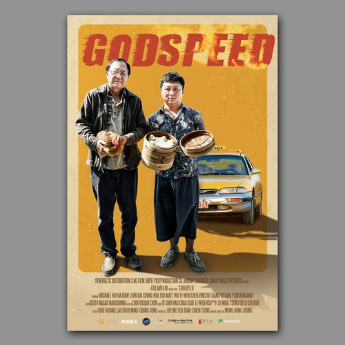 A film poster for odd-couple movie Godspeed