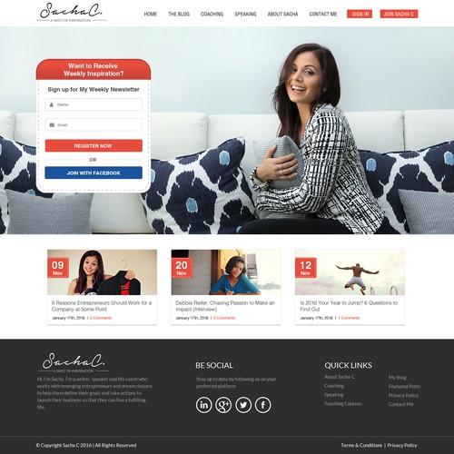 Sachac Landing page Design