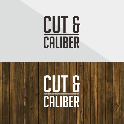 logo for cut and caliber barbershop