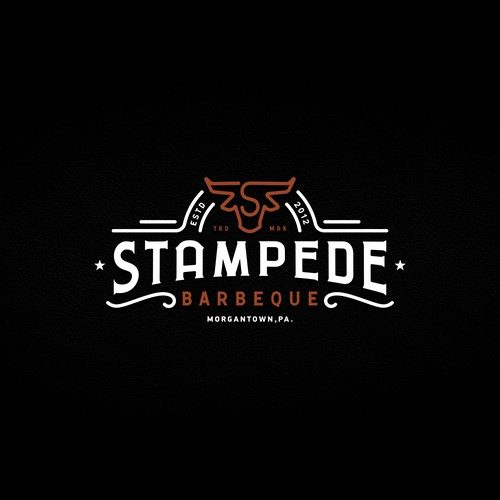 Iconic logo for a Barbeque Co.