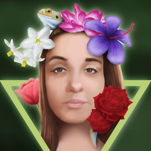 Digital portrait of a girl