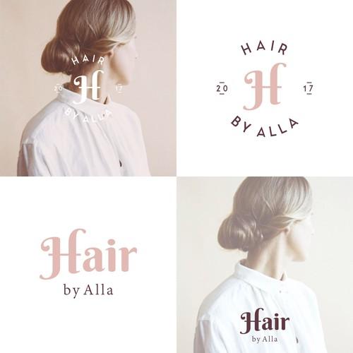Feminine Design for Hair Beauty Salon.