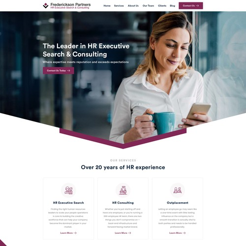 Web Design for HR Firm