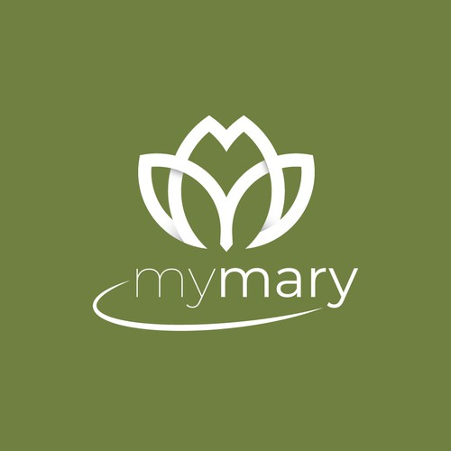 Logo basato sulle iniziali MM stilizzate a formate un tulipano