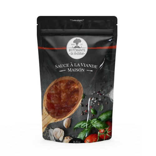 Package concept for hom made meat sauce