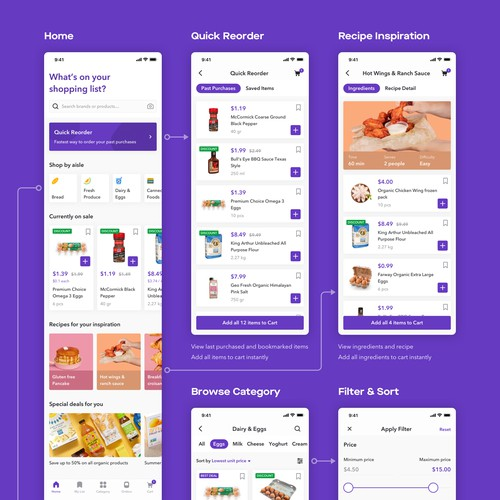 UI/UX Design for Online Grocery App