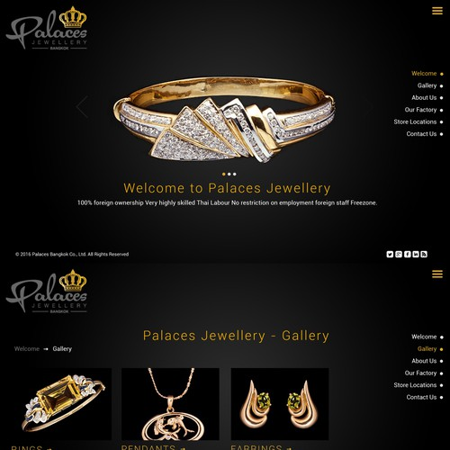 Creative Jewellery Website Design