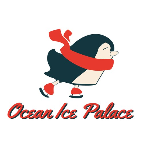 Ice skating logo