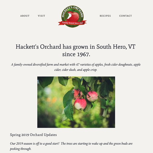 Hackett's Orchard Vermont Apple Orchard