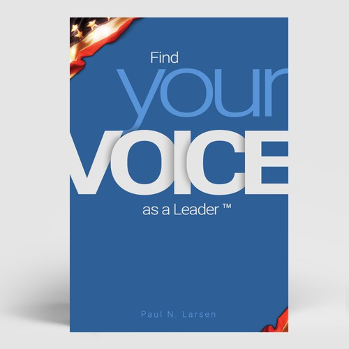 """""""Find your voice as a leader"""" book cover."""