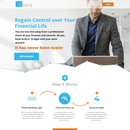 Landing for Financial Company